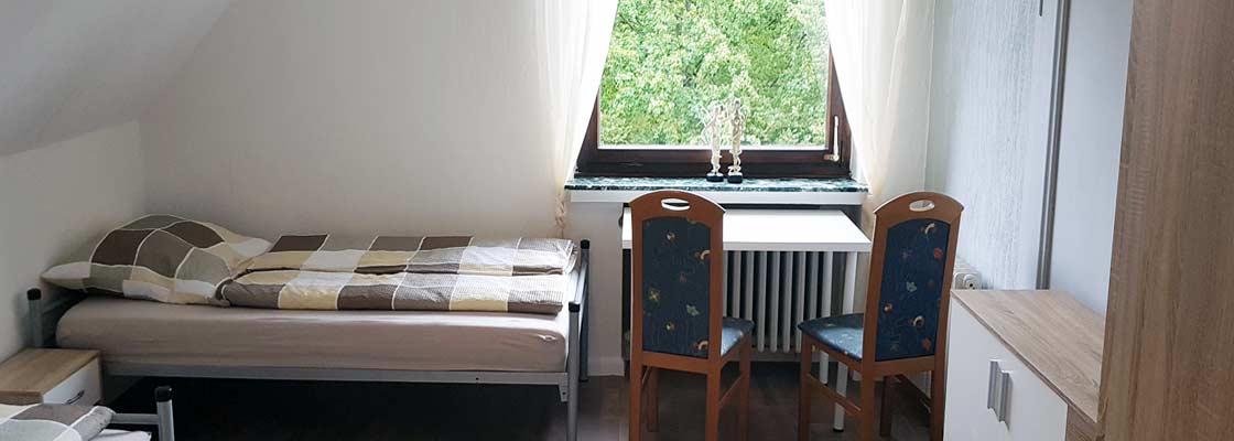 Gaestezimmer nahe Roedinghausen bis 2 Personen, Zimmer 4 (Sliderimage)