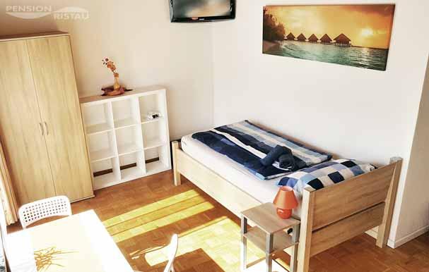 Pension nahe Kirchlengern - Doppelzimmer - Ansicht Ausblick (Zimmer 3)